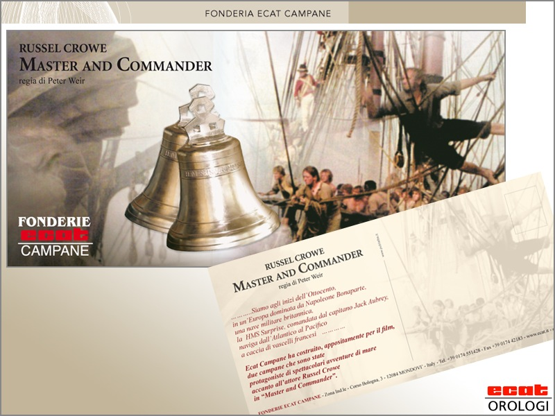 Russel Crowe Master and commander bell - Peter Weir