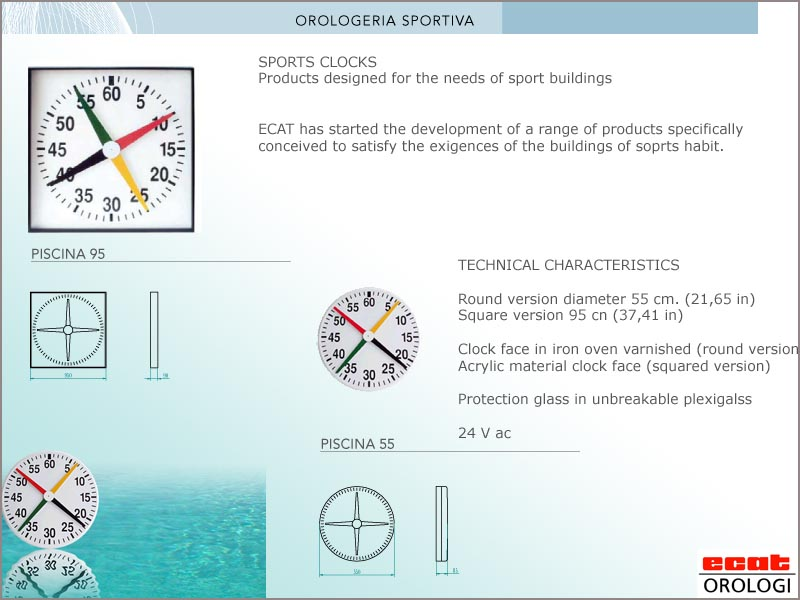 sport clock swimmingpool - orologio contasecondi per piscina